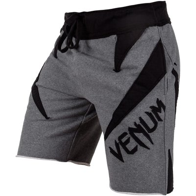 Venum Jaws Cotton Shorts Grey Black Venum Kleding