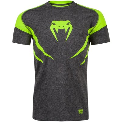 Venum Predator Dry Tech T Shirt Grey Yellow Vechtsport Kleding