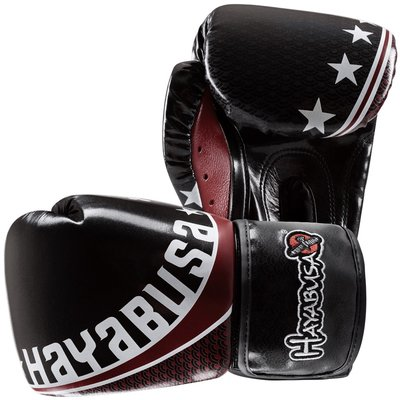 Hayabusa Pro Muay Thai Gloves 16oz Kickboks Handschoenen Zwart