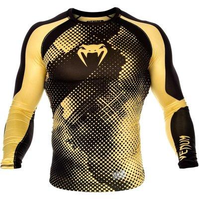 Venum Technical Compression T Shirt L/S Rash Guard Black Yellow