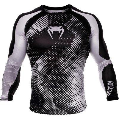 Venum Technical Compression T Shirt L/S Rash Guard Black Grey