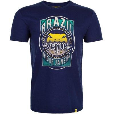 Venum Carioca 4.0 BJJ T Shirt Navy Blue Venum Fightwear