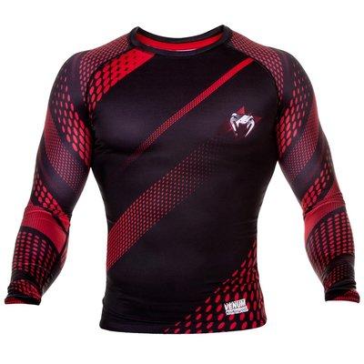 Venum Rapid L/S Rash Guard Black Red MMA Fightshop