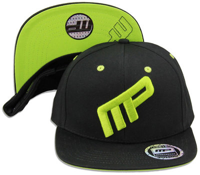 MusclePharm MP Pet Cap Hat Front Logo MP Black Green