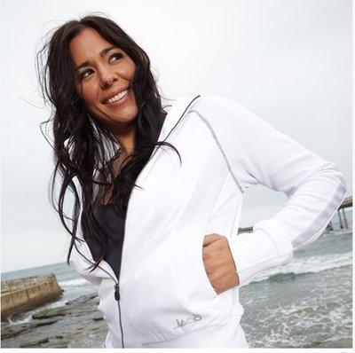 Women's Training Jacket White by Tenacity Clothing