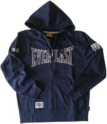 Everlast Mens Classic Zip Hoodie Sweater Navy