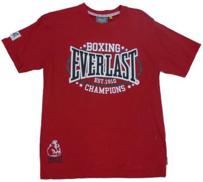 Everlast T Shirt Heritage Red Everlast Boxing Gear