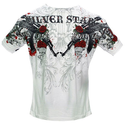 Silver Star Ak47 Men's Crew Neck T Shirt White