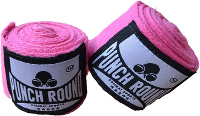 HQ Bandage Roze Hand Wraps No Stretch Punch Round™ 260 cm