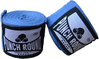 HQ Bandage Blauw Hand Wraps No Stretch Punch Round™ 400 cm