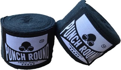 HQ Bandage Zwart Hand Wraps No Stretch Punch Round™ 260 cm