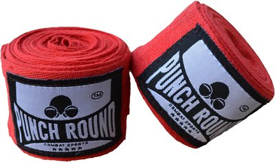 HQ Bandage Rood Hand Wraps No Stretch Punch Round™ 400 cm