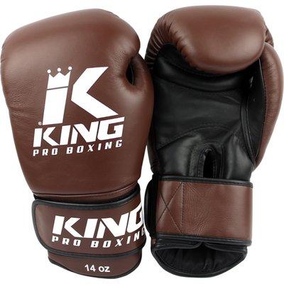 King Pro Boxing Gloves Kickboks Bokshandschoenen KPB/BG 4 Brown