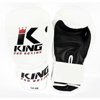 King Pro Boxing Gloves Kickboks Bokshandschoenen KPB/BG 2 White