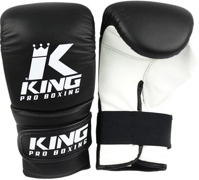 King Pro Boxing KPB/BM Bokszak Training Handschoenen Black White Leder