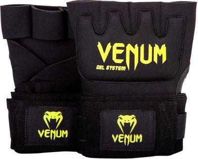 Venum Gel Kontact Gloves Wraps Neo Yellow Binnen Handschoenen