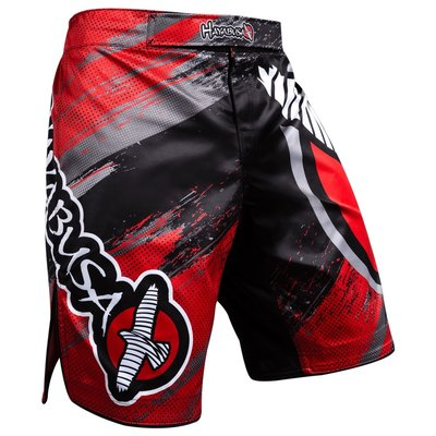 Hayabusa Chikara 3.0 Fight Shorts Black Red MMA Kleding