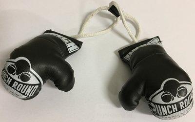 Mini Carhanger Boxing Gloves Punch Round™ Zwart