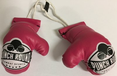 Mini Carhanger Boxing Gloves Punch Round™ Roze