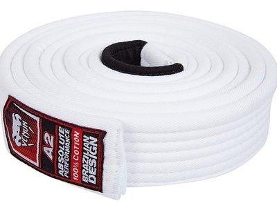 BJJ Gi Venum Belt White Brazilian Jiu Jitsu
