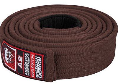 BJJ Gi Venum Belt Brown Brazilian Jiu Jitsu