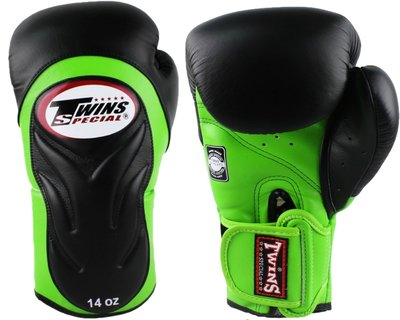 Twins Bokshandschoenen BGVL-6 Black Green Deluxe Sparring Gloves