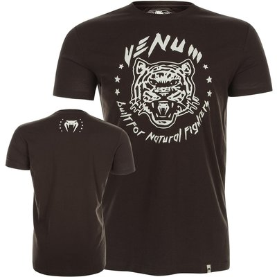 Venum T Shirt Natural Fighter Tiger Black Vechtsport Kleding Emmen