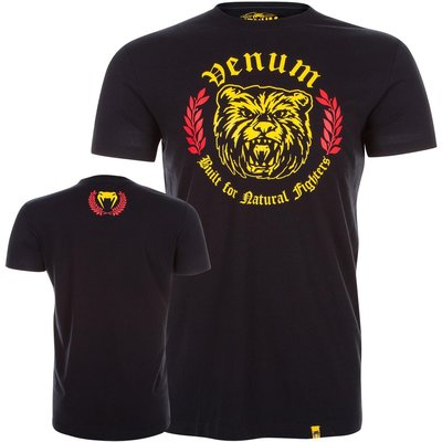 Venum T Shirt Natural Fighter Bear Black Vechtsport Winkel Emmen