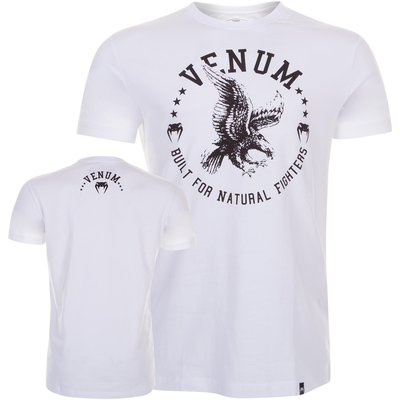 Venum Kleding T Shirt Natural Fighter Eagle White