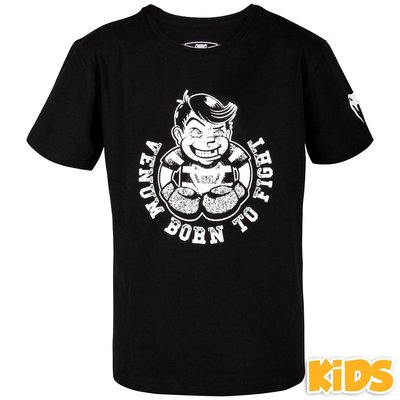 Venum Kids T Shirt Born to Fight Black Kids Fightwear
