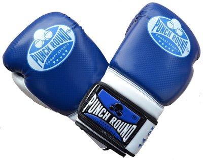 Punch Round™ Carbonix Kickboks Handschoenen Blue White