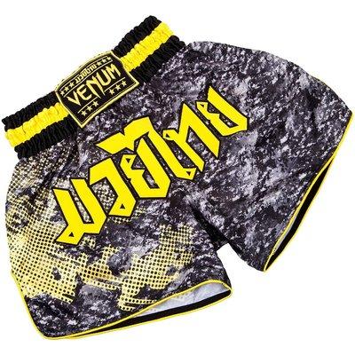 Venum Tramo Kickboks Muay Thai Broekje Black Yellow