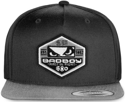 Bad Boy Global Snapback Cap Black Grey Fightshop Nederland
