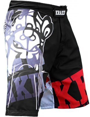 Krakenwear MMA Fight Shorts SFX The M4SK Black Grey