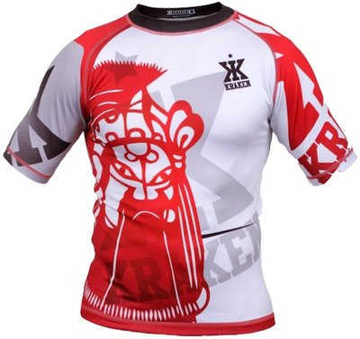 Kraken Wear Rash Guard The M4SK Red Ice Vechtsport Winkel