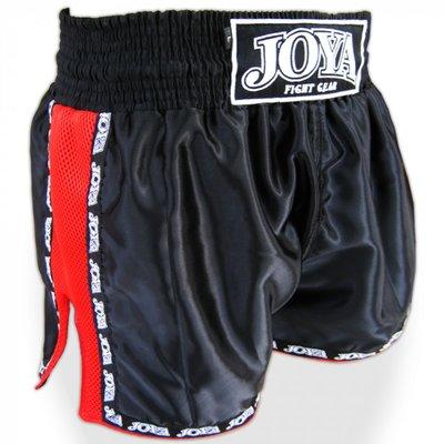 Joya Muay Thai Broekje Mesh Black Red Kickboks Winkel