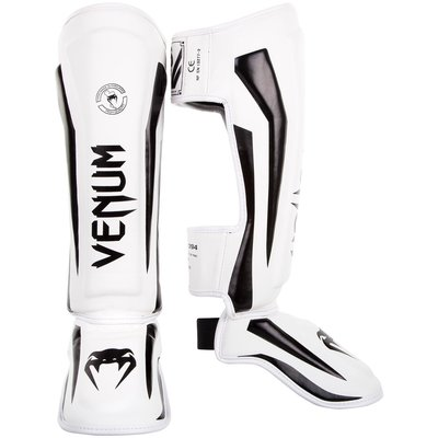 Venum Elite Stand Up Shinguards Scheenbeschermer White Black