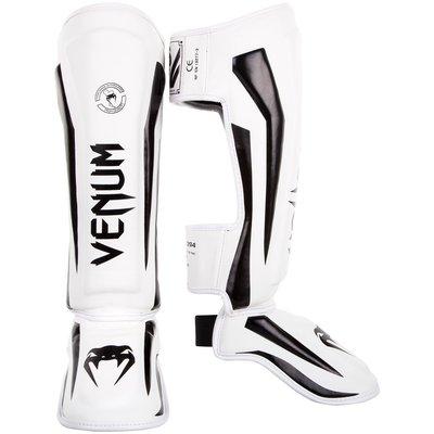 Venum Elite Stand Up Shinguards Scheenbeschermer White Black