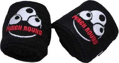 Hand Wraps Bandage Punch Round Extra Stretch 460 cm Black