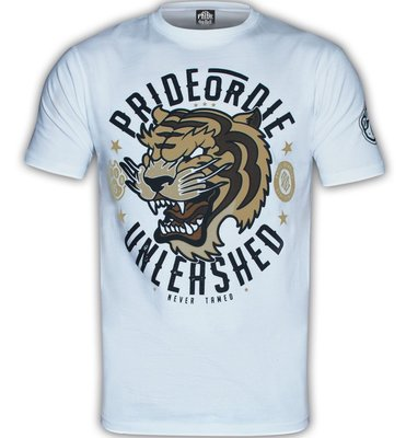 PRiDEorDiE T Shirts Unleashed White Vechtsport Webshop