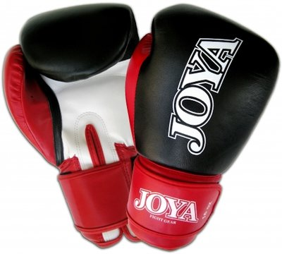 Joya Kickboks Handschoenen Black Red Leather Thai Boks