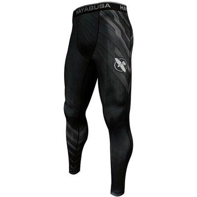 Hayabusa Metaru Charged Compression Pants Spats Tights Black Grey