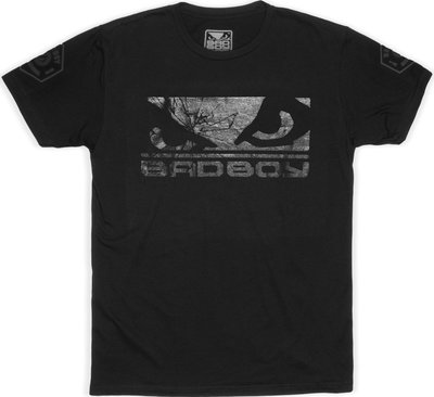 Bad Boy Global Walkout T-shirt Black on Black Vechtsport Kleding
