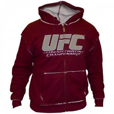 UFC Mens Sherpa Hoodie Burgundy