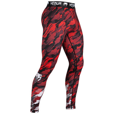 Venum Tecmo Legging Spats Tights Black Red Venum Kleding