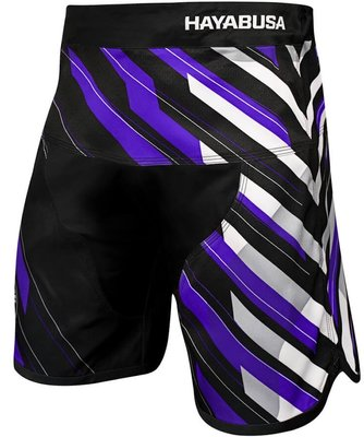 Hayabusa MMA Metaru Charged Jiu Jitsu Fight Shorts Black Purple