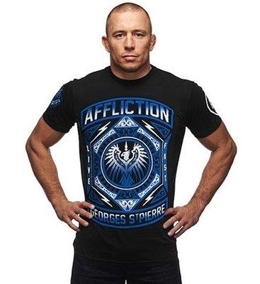 Affliction GSP Prestige UFC 158 Walkout T Shirts Black