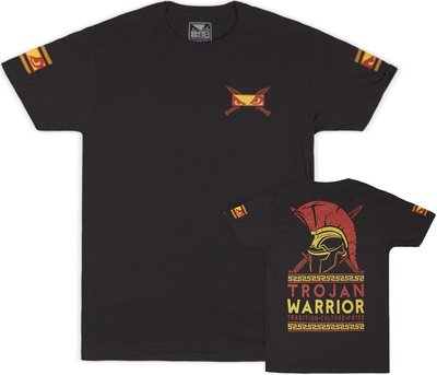 Bad Boy Trojan Warrior T Shirt Antraciet Vechtsport T Shirts
