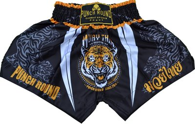 Punch Round™ Tiger Thaiboks Broekje Kickboxing Shorts MT12