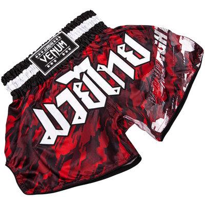 Venum Kickboks Shorts Tecmo Rood Wit Venum Kickboks Broekjes